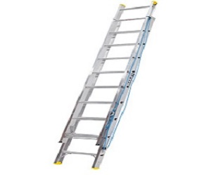 Aluminium Wall Mounted Extension Ladder